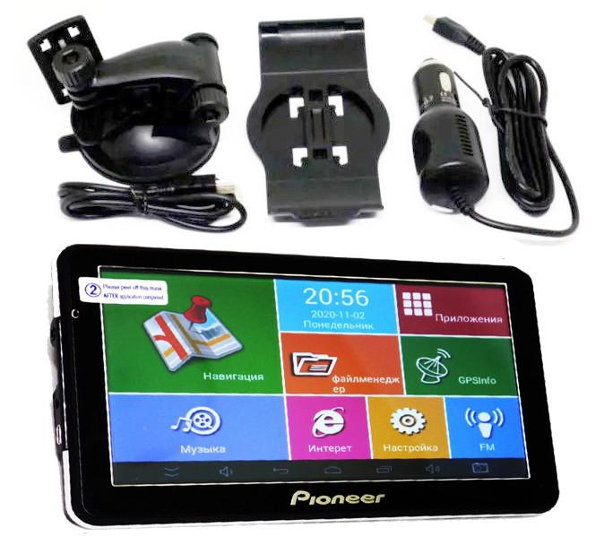 Навигатор 7'' Планшет Pioneer 705 - GPS+ 4Ядра+ 8Gb+ Android