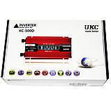 Перетворювач Ukc авто інвертор 12В-220В 500W + Екран, фото 2