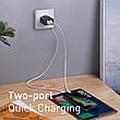Адаптер мережевий BASEUS Speed Mini QC Dual U Quick Charger 2USB 3A QC3.0 18W, фото 2