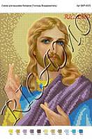 """Схема на габардине для вышивки бисером """"Благословение Иисуса"""""""