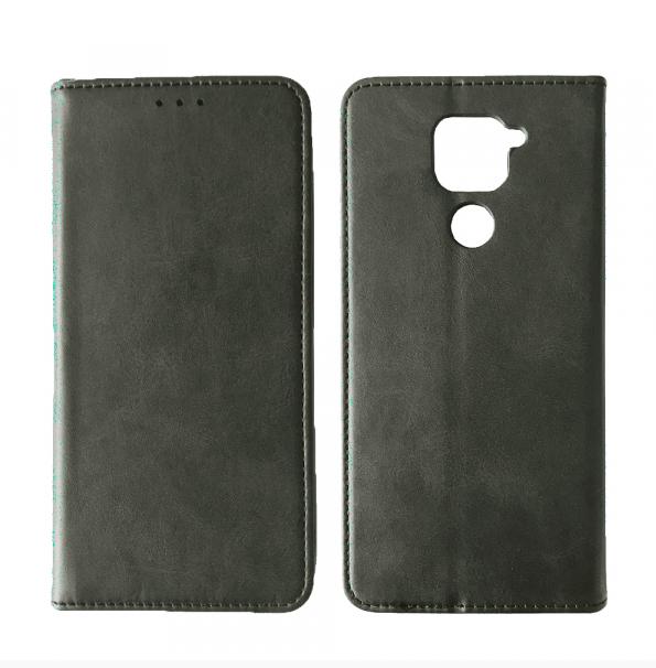 Чехол-книжка Black TPU Magnet for Xiaomi Redmi Note 9 Gray