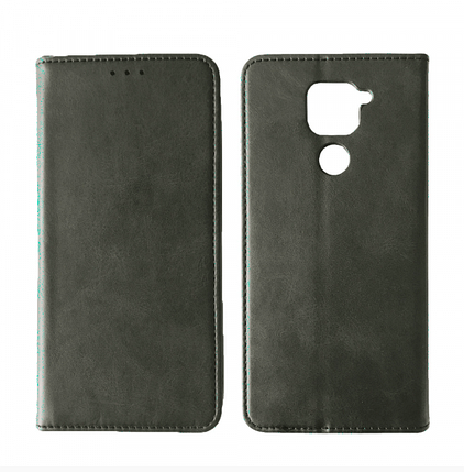 Чехол-книжка Black TPU Magnet for Xiaomi Redmi Note 9 Gray, фото 2