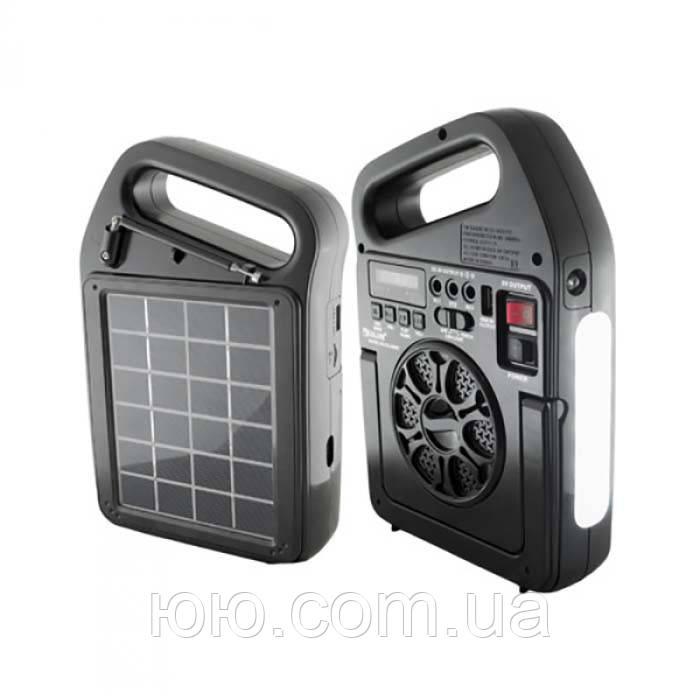 Портативный радиоприемник Golon RX-498LS, Power Bank, usb, sd, солнечная батарея