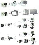 Экшн камера 4K wi-fi + Видеорегистратор+ Аквабокс +крепления аналог Go Pro, фото 7