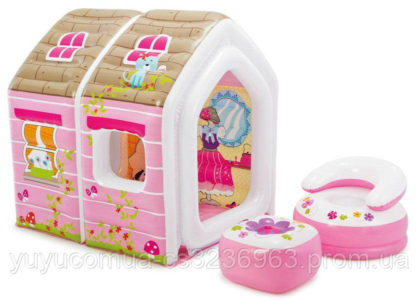 Надувний ігровий центр Будиночок принцеси Intex 48635