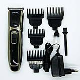 Машинка для стрижки волос с аккумулятором Gemei GM 6069, фото 3