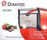 Гриль сэндвичница бутербродниця Domotec DT-1302, фото 2