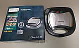 Гриль контактный Rainberg RB-5404 750 Вт,  бутербродница, сендвичница Реинберг, фото 4