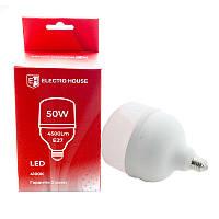 ElectroHouse LED лампа  E27 4100K / 50W 4500Lm /270° T140