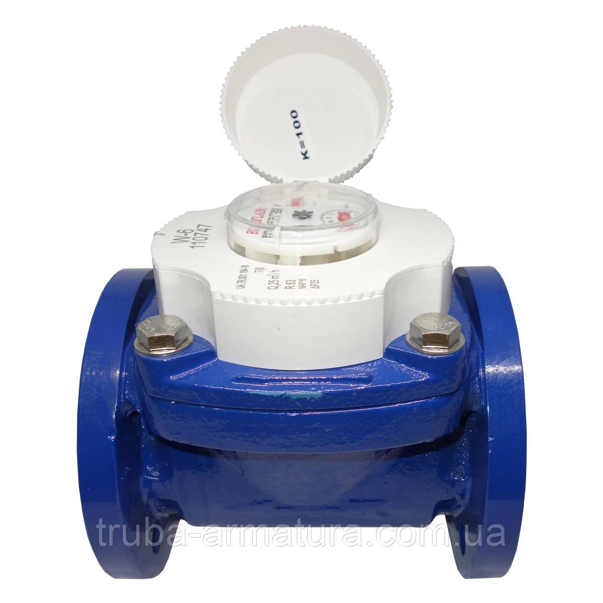 Счетчик воды турбинный фланцевый Baylan W-1 Ду 80