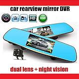 "Дзеркало відеореєстратор D35 (Android) 1/8 (LCD 7"", GPS), 2 камери, фото 8"
