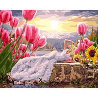 Картина за номерами Дюймовочка в білому 40х50 Brushme (Без коробки) расскраска за номерами