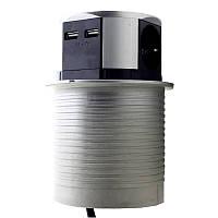 ElectroHouse Мебельная розетка  3 x 16A, 2 x USB 2.4A, металл + провод 3 x 1.5 mm²