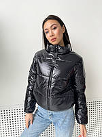 Демисезонная женская куртка дутая короткая 46/48