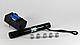 Лазерная указка YX-B008 синий лазер 10000mW + 5 насадок верх- яркий астрономический, фото 3