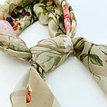10958-2, павлопосадский платок шелковый (крепдешиновый) с подрубкой, фото 5