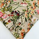 10958-2, павлопосадский платок шелковый (крепдешиновый) с подрубкой, фото 6