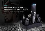 Машинка для стрижки волос Kemei KM-640 8в1, фото 5