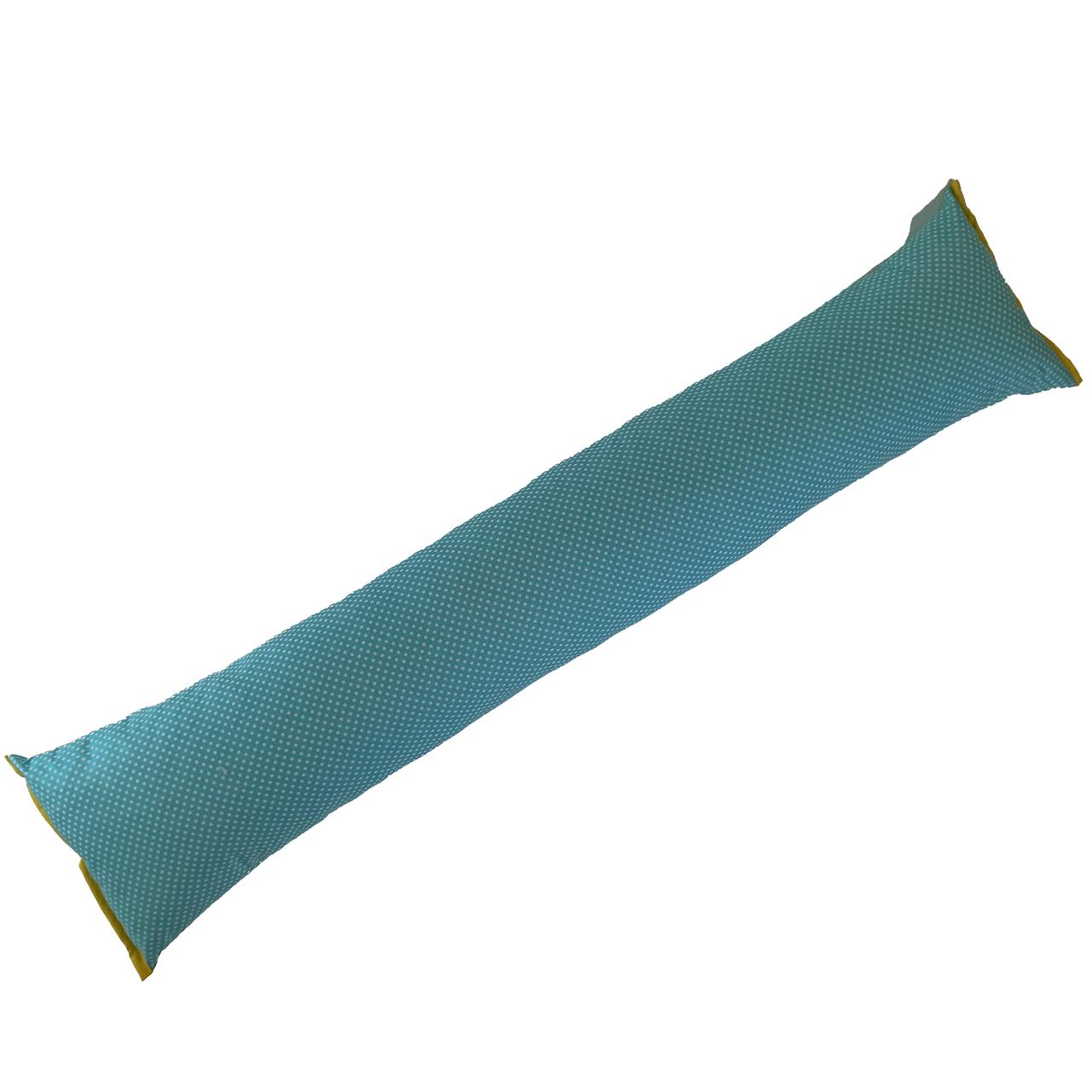 Подушка/обнимашка от сквозняков 90*15 см, (хлопок) (горох на бирюзовом)