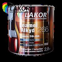 Эмаль ПФ-266К LAKOR красно-коричневая 25 кг (20 л)