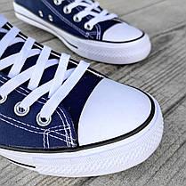 Сині темно сині Кеди чоловічі конверси converse літні тканинні текстильні сітка, фото 2