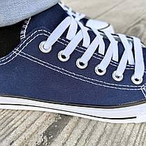 Сині темно сині Кеди чоловічі конверси converse літні тканинні текстильні сітка, фото 3