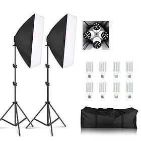 Набір постійного студійного світла c LED лампами Louis Daguerre CA 9069LED(50х70 см+8 ламп 65вт.)