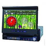Автомагнитола 1DIN DA-766 с выезжающим экраном, фото 4