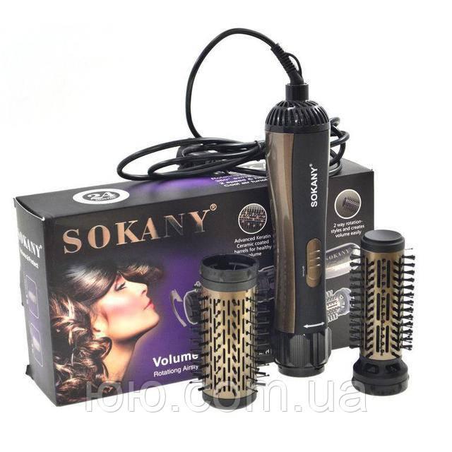 Стайлер для укладання волосся Sokany, 2 насадки обсяг і захист
