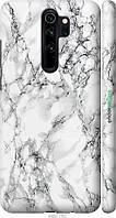 Чехол на телефон Xiaomi Redmi Note 8 Pro Мрамор белый