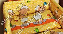 Бортики в детскую кроватку защита бампер Баранчик оранжевый, фото 3