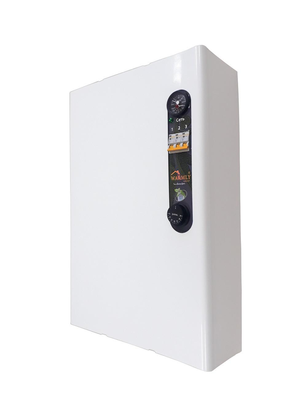 Котел електричний 6 кВт 220/380 Ст. PRO (насос, розширювальний бак, безшумний реле)