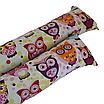 Подушка/обнимашка от сквозняков 90*15 см, (хлопок) (сказочные совы розовые), фото 4