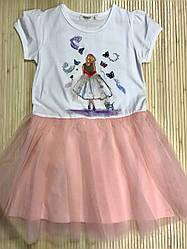 Платье для девочки Brezze персиковое