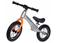 Беговел (велобіг від) дитячий Maraton Junior з надувними колесами, Металік, фото 1