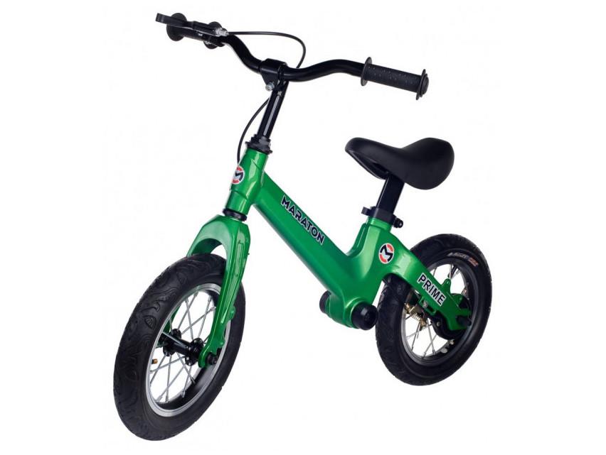 Беговел Maraton Prime для детей с ручным тормозом Зеленый