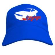 Бейсболки мужская синего цвета с изображением  Dodge challenger srt