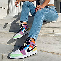 Женские кроссовки Nike Air Jordan 1 Mid SE Multi-Color Найк Аир Джордан 1