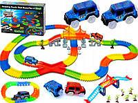 Гибкая светящаяся гоночная трасса Magic Tracks 360 деталей Детская дорога Гибкий трек с 2 машинками игрушечная