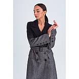 Стильне демісезонне двобортне пальто жіноче максі Vam 665 46, фото 3