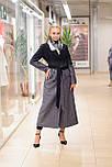 Стильне демісезонне двобортне пальто жіноче максі Vam 665 46, фото 4