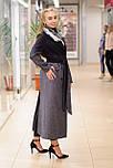 Стильне демісезонне двобортне пальто жіноче максі Vam 665 46, фото 5