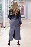 Стильне демісезонне двобортне пальто жіноче максі Vam 665 46, фото 6
