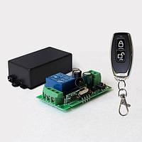 433МГц одноканальний бездротовий вимикач на 220В + Пульт, фото 1