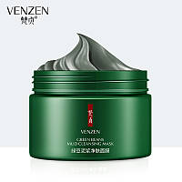 Очищуюча грязьова маска для обличчя з бобами мунг Venzen Green Beans Mud Cleansing Mask, 120г