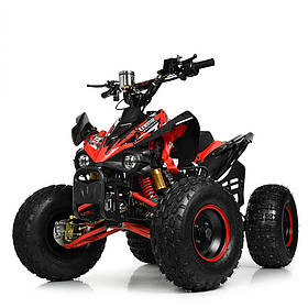 Подростковый квадроцикл (мотор-диференциал 1000W, 4аккум) Profi HB-EATV1000Q2-3(MP3) Красный