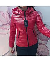 Легкая осенее-весенняя куртка красного цвета с 42 по 56 рзмеры, фото 1
