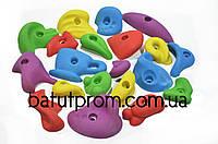 Комплект зачепів для скеледрому різнобарвний - 54 штуки