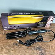 Тройная плойка для волос PRO Mozer MZ-6 3 волны плойка голливудская крупная волна щипцы для завивки кудрей