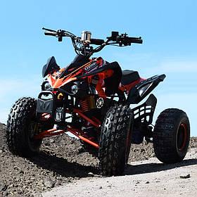 Підлітковий квадроцикл (мотор-диференциал 1000W, 4аккум) Profi HB-EATV1000Q2-7(MP3) Помаранчевий